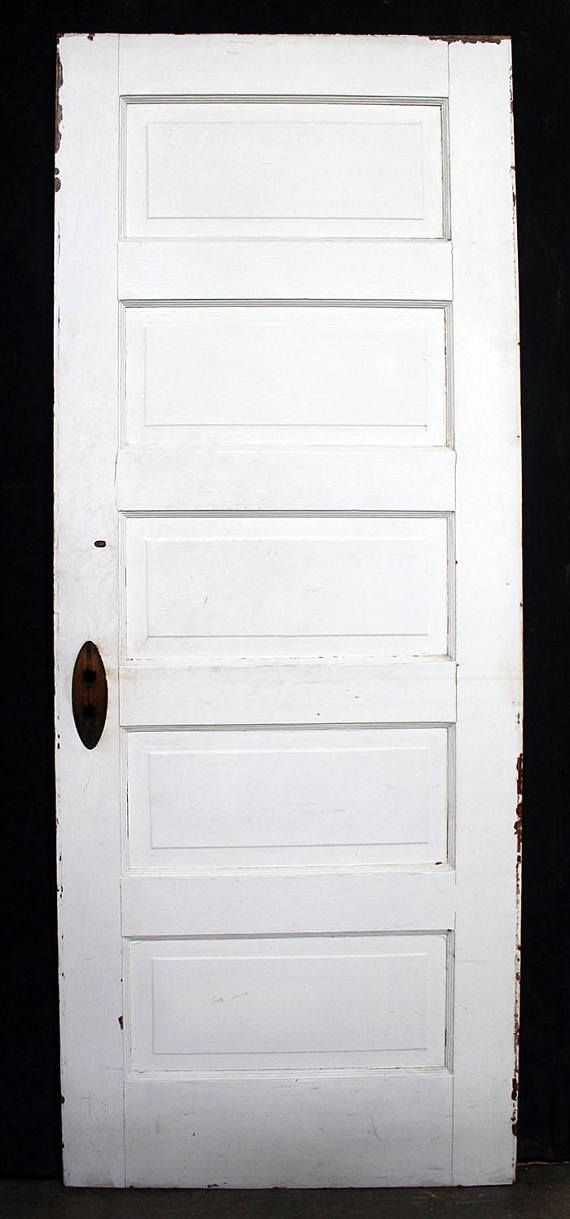 4 Avail 30x77 Antique Vintage Interior Wood Wooden Door 5 Stacked