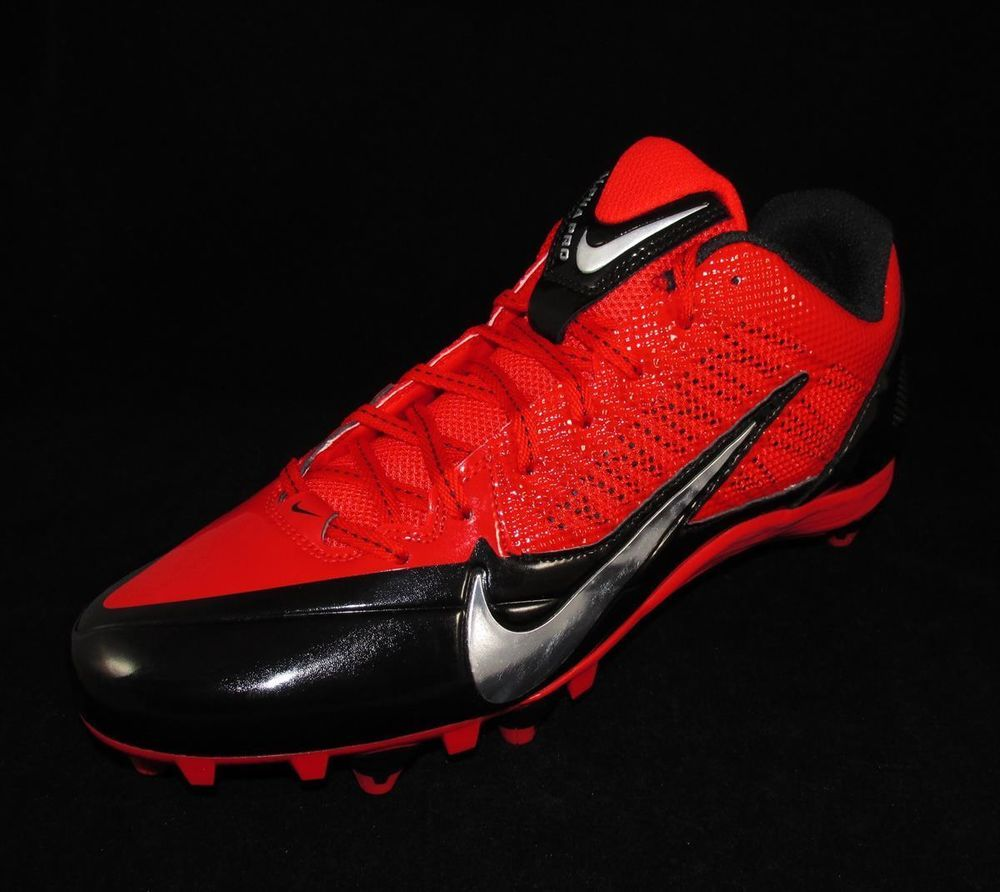 Nike Alpha Pro D Low Football Cleats Mens Size 11 Red Black