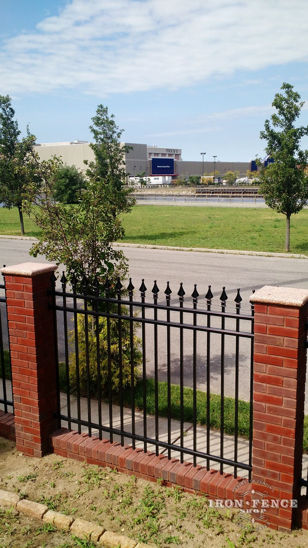 Image Result For Iron Fencing With Brick Columns Dise 241 O