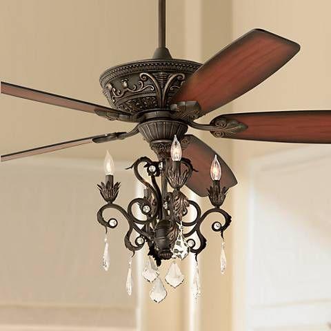 60 Casa Montego Bronze Chandelier Ceiling Fan 56358 58940