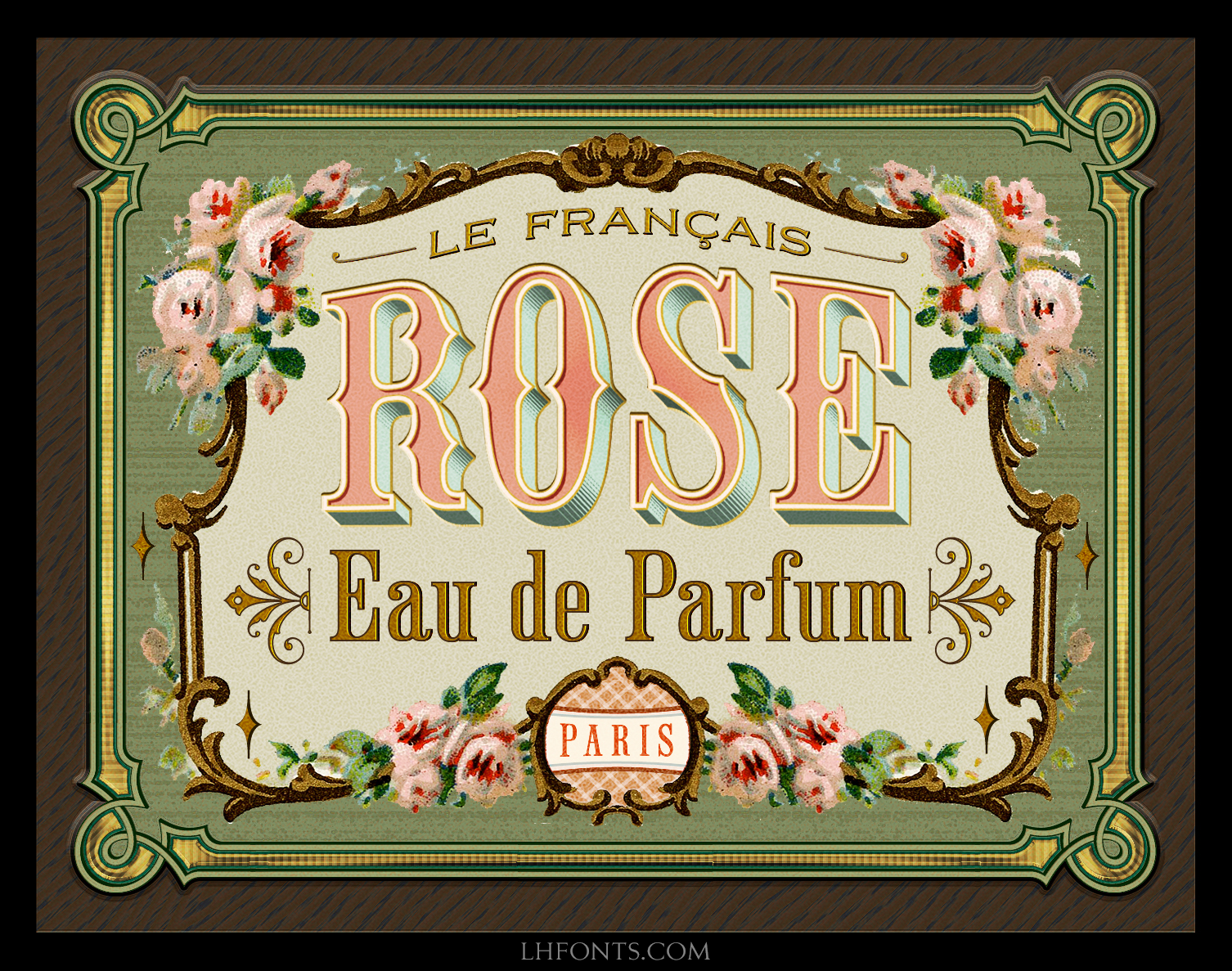 Beautiful Perfume Logo Using Lhf Old Tom Font Victorian Lettering Vintage Typography Hand Painted Signs Vintage