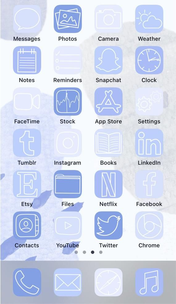 Aesthetic ios14 iPhone App Icons 50 Baby Blue Viol