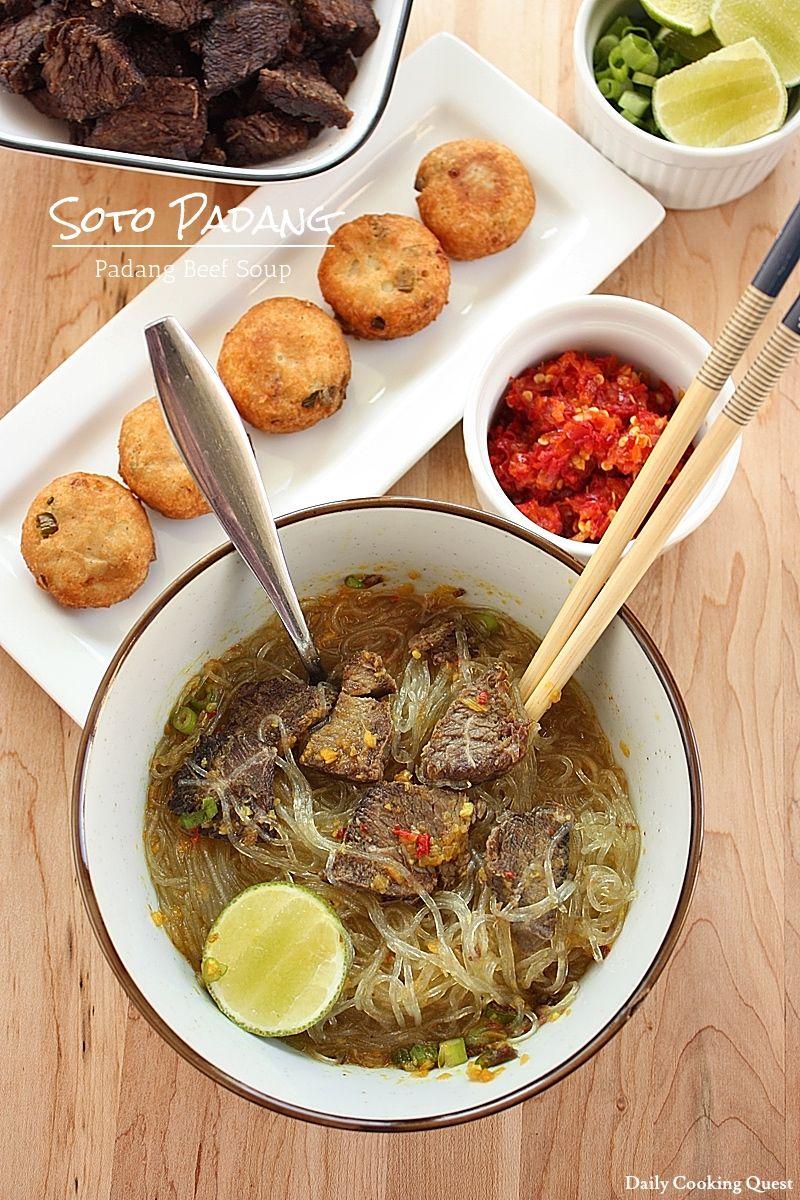 Soto Padang - Padang Beef Soup | Resep (Dengan gambar ...