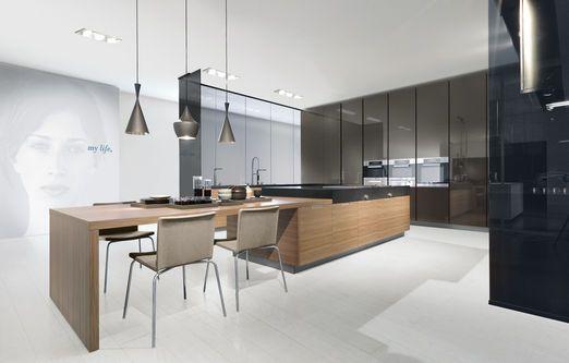 Minimal due kitchen by Varenna ( Poliform ) | Kitchens | Pinterest ...