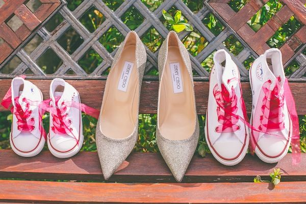 lovely shoe idea for your young bridesmaids