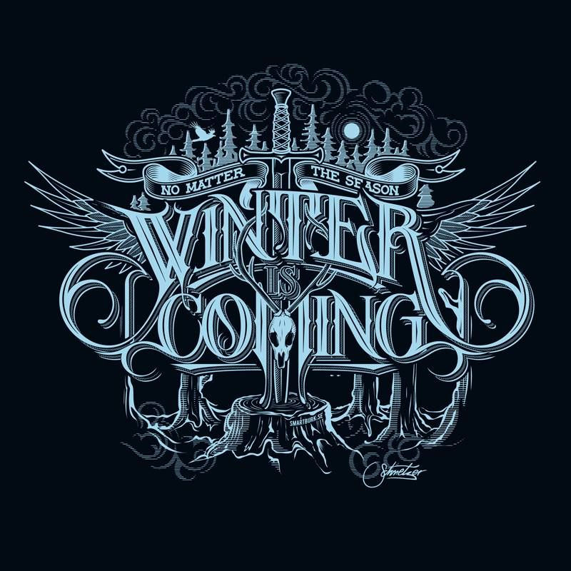 Winter is coming by Martin Schmetzer Text art typography