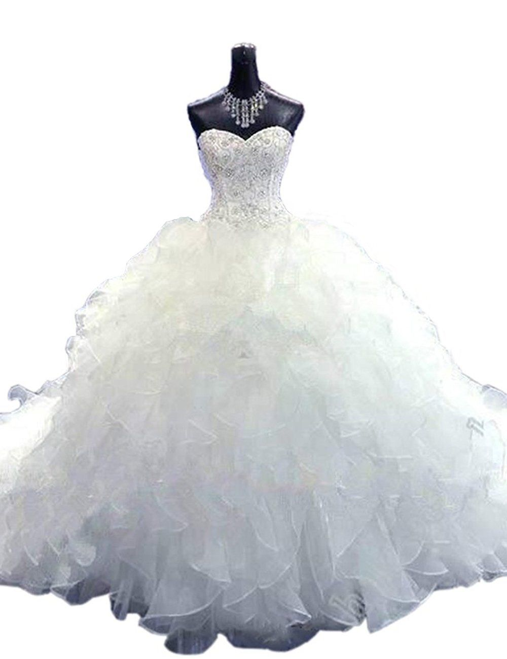 Wedding dress restoration  Mulanbridal Ball Gown Wedding Dresses Sweetheart Corset Organza