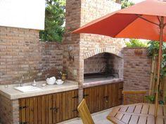 Asador de ladrillo materiales buscar con google bah e for Cocinas con salida al patio