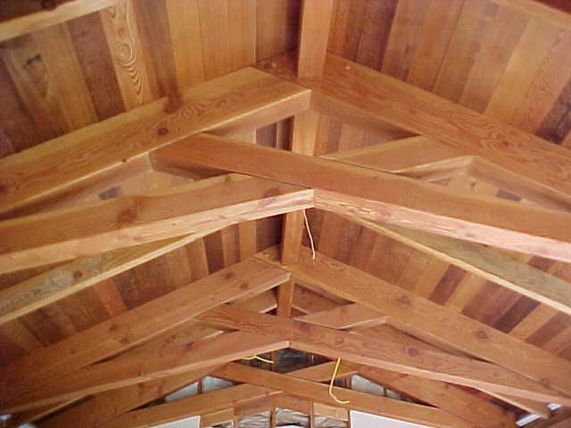 scissors truss design Scissor Trusses Exposed roof trusses