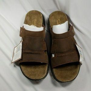 Mens Dunham New Balance Sandal Brown Leather 9