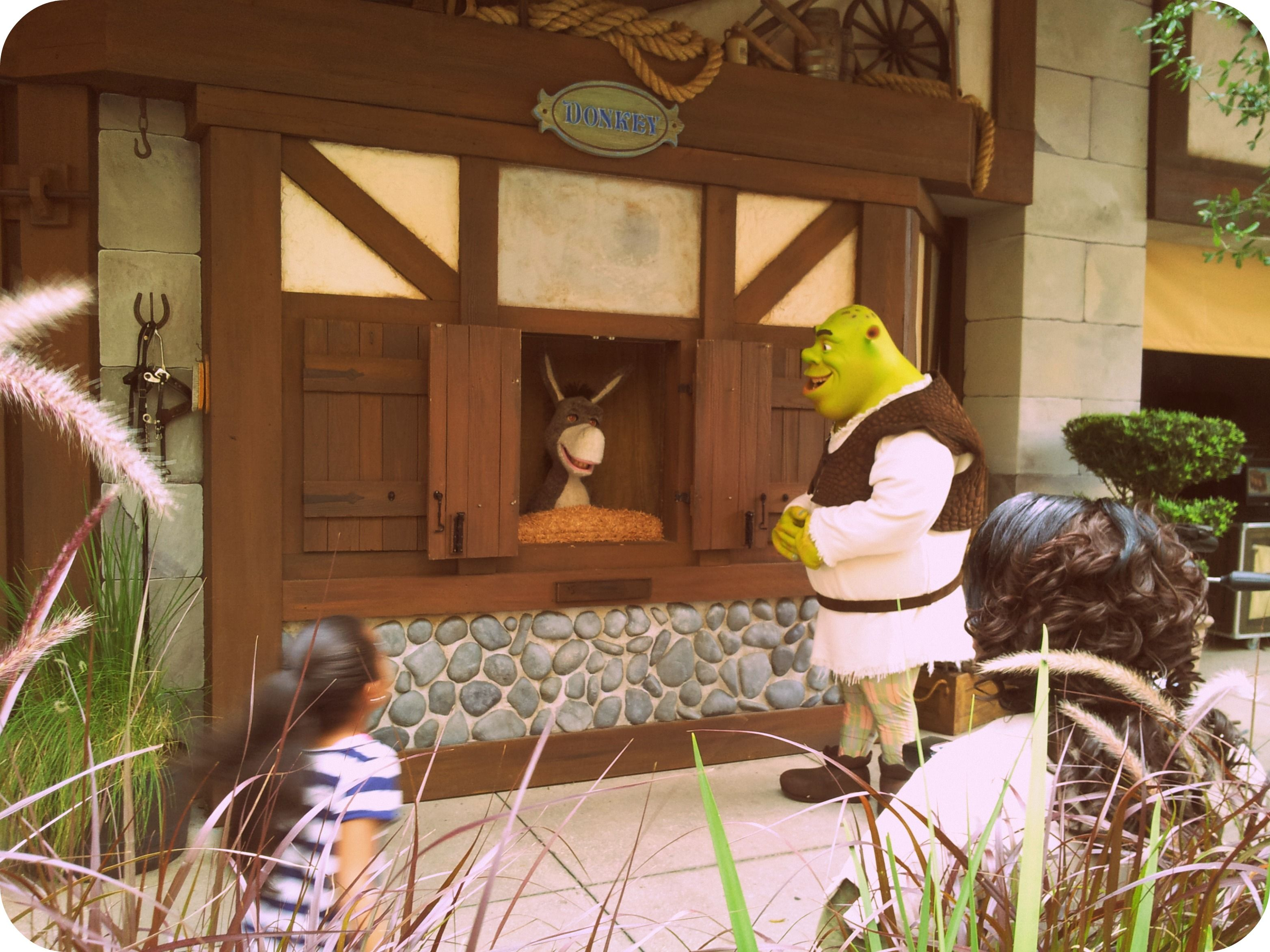 Meet and Greet opportunity with Donkey and Shrek via the Shrek ride ...