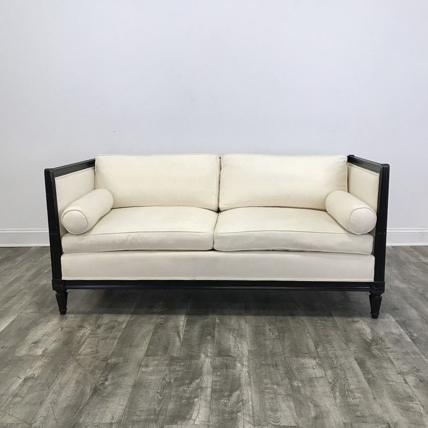 Woodtrim Ivory Loveseat Sofa   Chicago, IL Https://www.marketsquarehome.