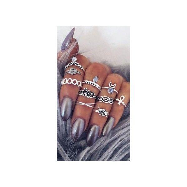 1c40fb641f5e0 Argento Vivo Mini Knot Ring via Polyvore featuring jewelry, rings ...