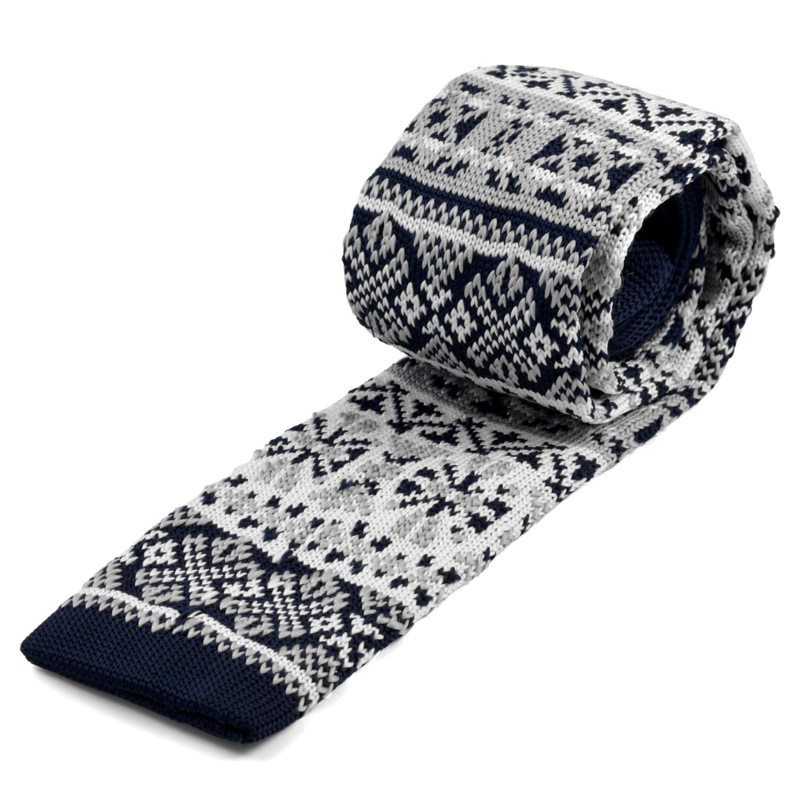 Photo of Nordic Patterned Knitted Tie | In stock! | Tailor Toki
