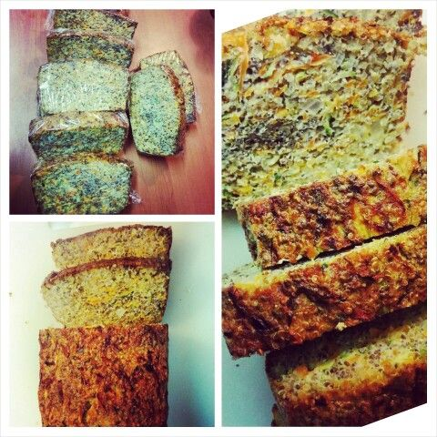 Chia & quinoa  loaf  1cup cooked quinoa, 1/2 cup chia seeds, 5large free range eggs, 1zucchini grated, 1carrot grated, 1chopped onion, 1/2 cup coconut oil Combine all and bake for 30mins at 180 degrees #chia #quinoa #veg #clean #wildandfree