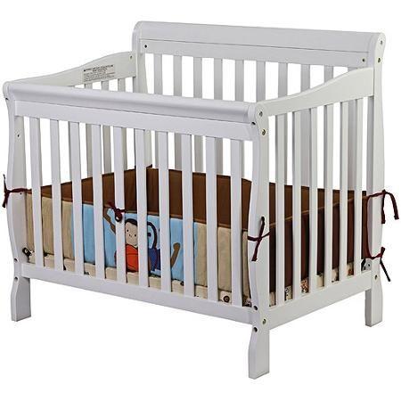 Dream On Me Aden 4-in-1 Convertible Mini Crib, White ...