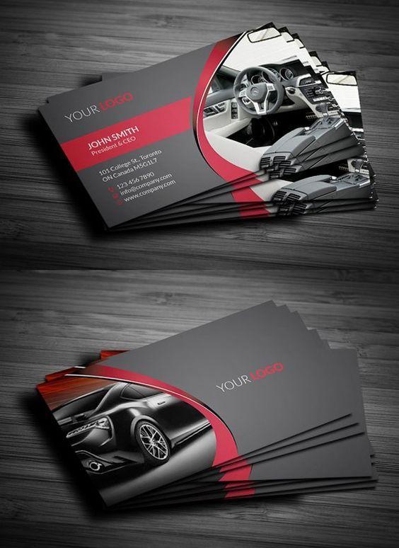 Rent A Car Business Card Полиграфия Pinterest Business cards - auto detailing flyer template