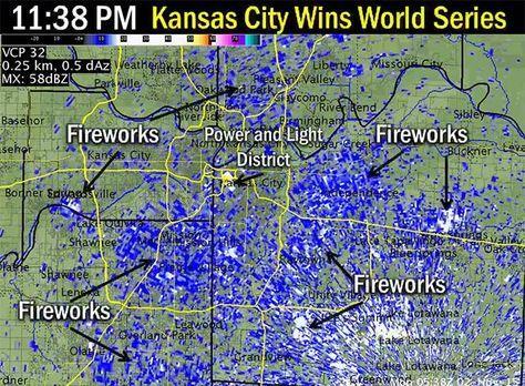 Kansas City S Massive World Series Celebration Lit Up The National Weather Service S Radar Kansas City Kansas City Royals Kansas