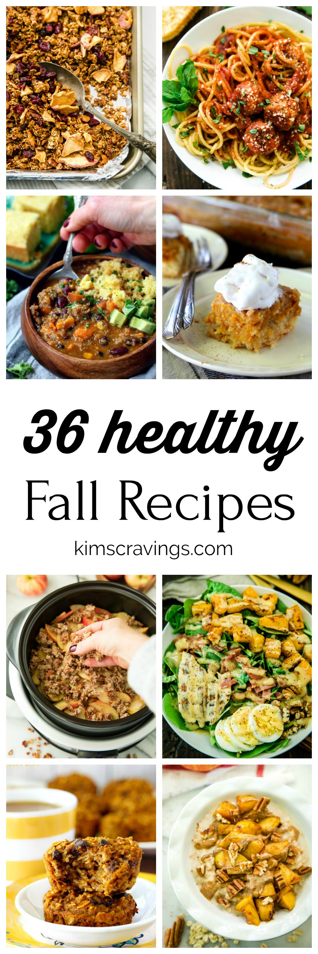 36 Healthy Fall Recipes #fallrecipesdinner