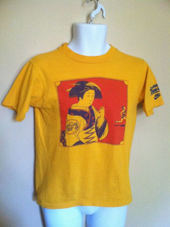 Vintage 80's Nike Just Do It distressed tshirt Gray tag yellow Made in USA t-shirt hip hop Nike tee - XL noIFdr