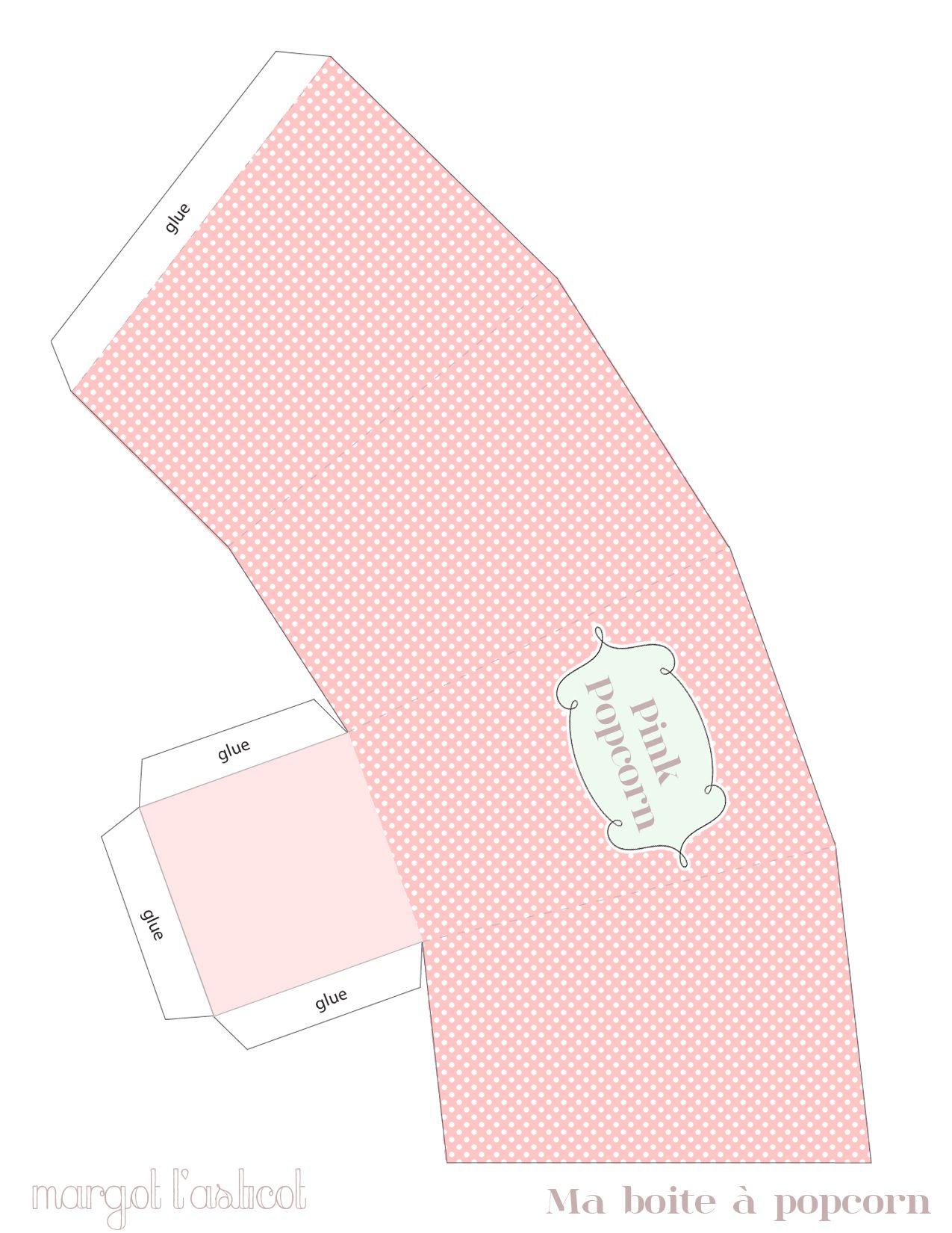 Free Printable Pink Popcorn Box | photoshop | Pinterest | Cajas ...