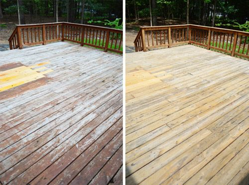 How To Strip Clean A Deck For Stain Young House Love Deck Restoration Diy Deck Deck Paint