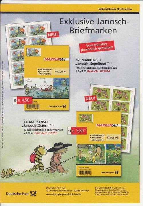 JanoschMarken auch selbstklebend Briefmarken, Janosch