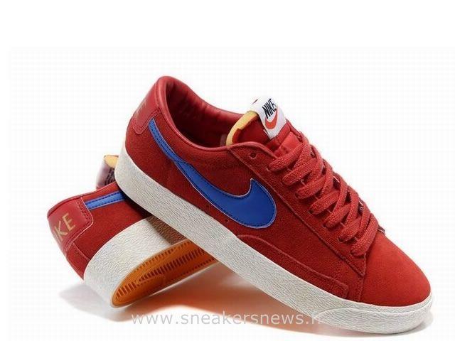 Nike Blazer pour Homme Low Premium Vintage Suede Gym Royal Rouge Chaussure  Nike Blazer Mid Vintage