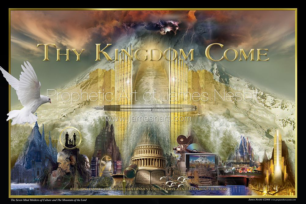 Mountain of the Lord (2008) — Products 2 – Prophetic Art of James Nesbit | Prophetic art, Art, Mountain  art