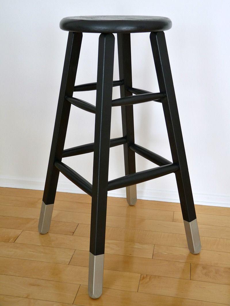 Dans le townhouse pinterest challenge dipped leg stool