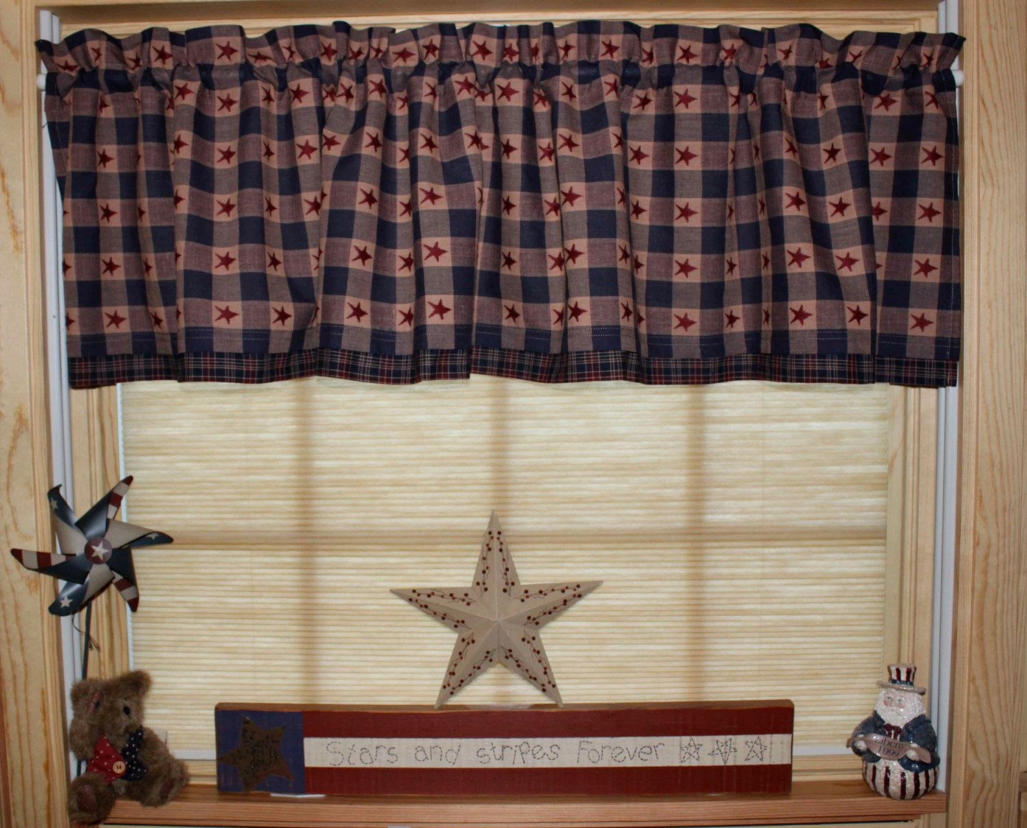 Gentil Primitive Americana Country Curtain Valance. $22.95, Via Etsy. Hobby Lobby  Has This Fabric