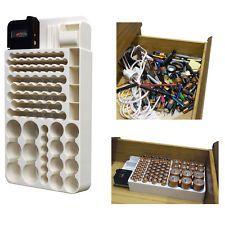 Battery Storage Organizer Rack 82 Holder Tester Case Box Organize Hold AA AAA 9V