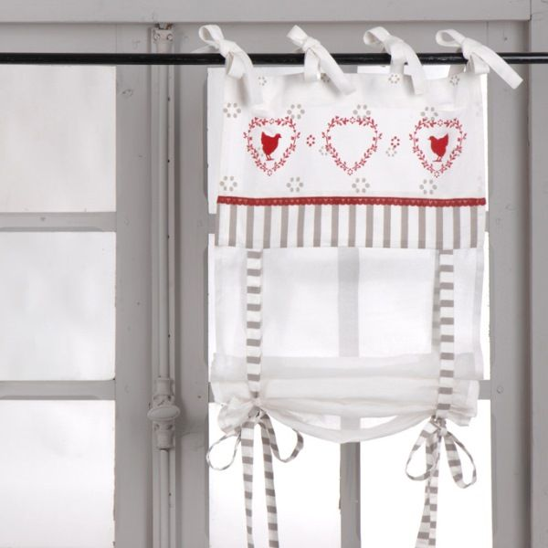 Rideau store campagne | curtains | Pinterest | Valance, Shabby and ...