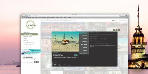 Ersintour web page by Andromedya Interactive , via Behance