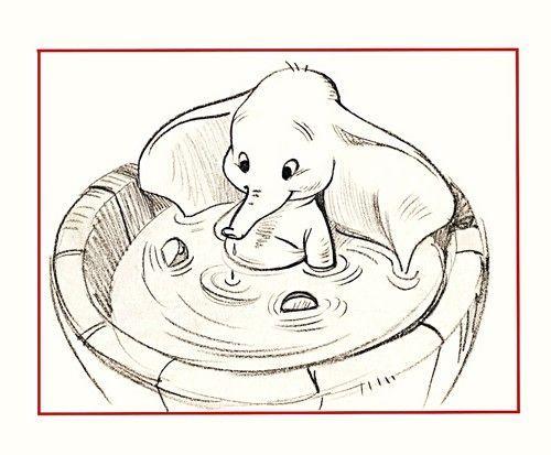 Walt Disney Sketches Dumbo Walt Disney Characters Photo Avec