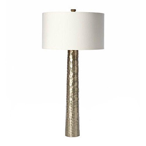Barbara Cosgrove Hammered Silver Table Lamp Zinc Door Table Lamp Lamp Silver Table Lamps