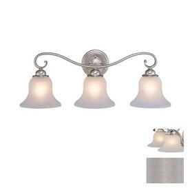 Bathroom Light Fixture Requirements cascadia lighting 3-light monrovia brushed nickel bathroom vanity