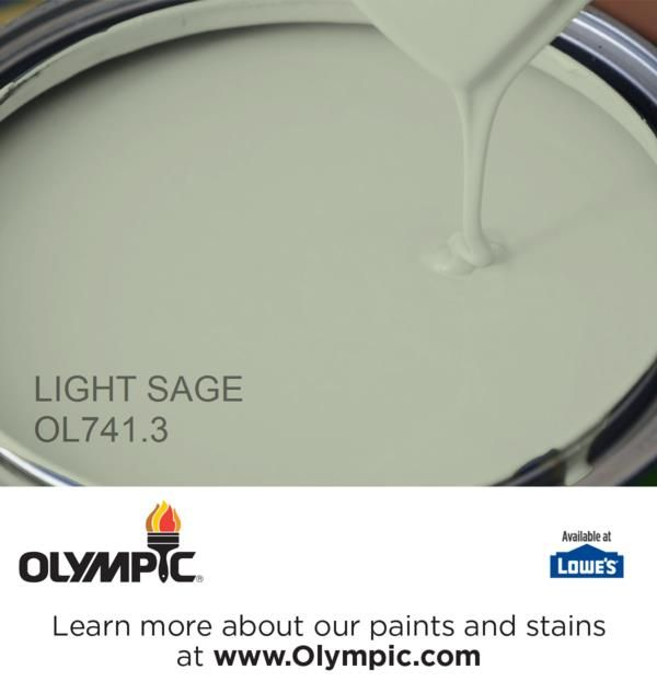 Light Sage Ol741 3 Is A Part Of The Greens Collection By Olympic Paint One My Favorite Colors Would Like This For An Island