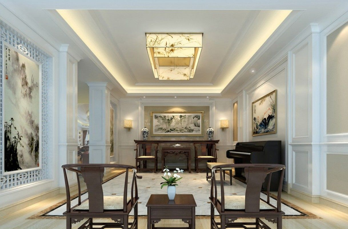 Adorable Neoclassical Interior House Chinese Living Room Design With Wallsu2026