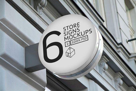 Download Store Signs Mock Ups 2 Store Signs Mockup Psd Design Mockup Free