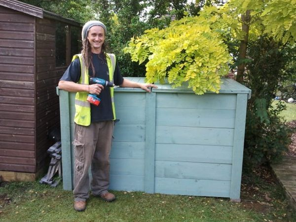 Double Bay Compost Bin Made From Reclaimed Timber By Cambridge