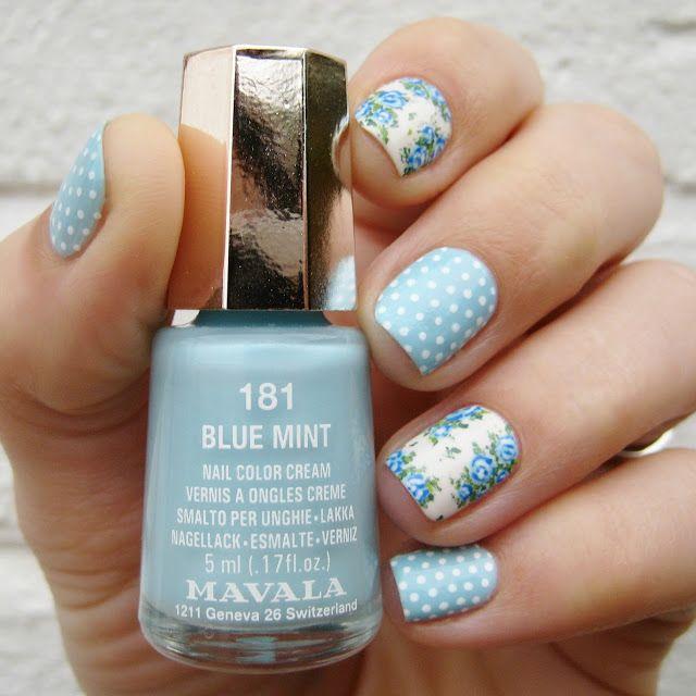 floral nail art flower nail designs Pinterest Flower nail