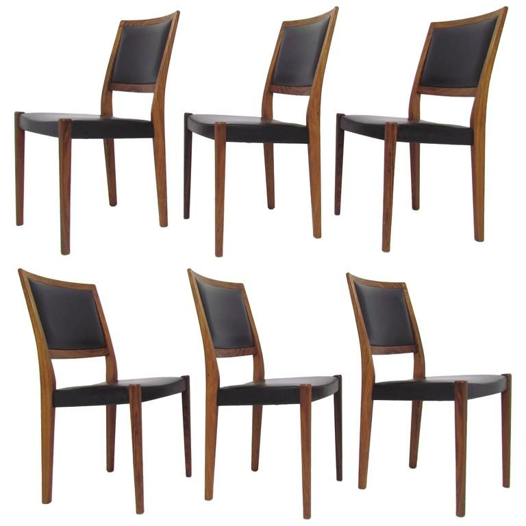 set of six danish modern rosewood dining chairs by svegards, Esszimmer dekoo
