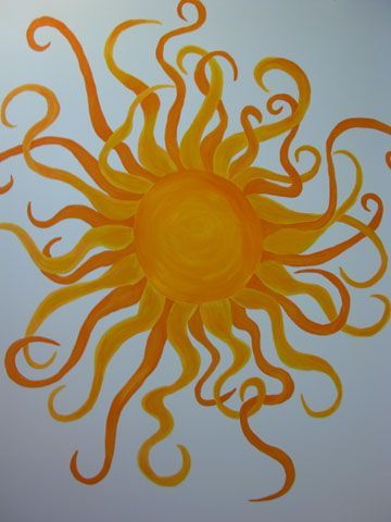 Sun Mural Inspiration For Kids Bedroom Door Mural Mural Art Colorful Art