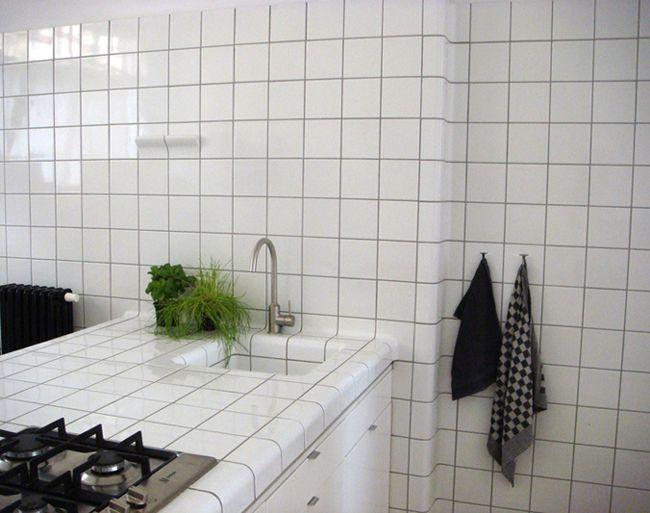 Muebles de cocina hechos sólo con azulejos Decoración Pinterest