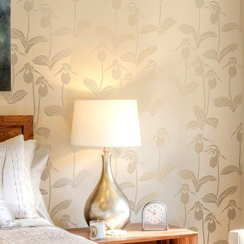 Lady\'s Slipper Orchids stencil pattern. Elegant stencils, floral ...