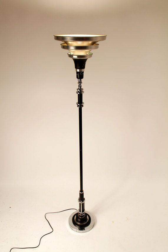 Art Deco Floor Lamp Beauteous SUPERB ART DECO FLOOR LAMP In The Manners Of Donald Deskey Nicely