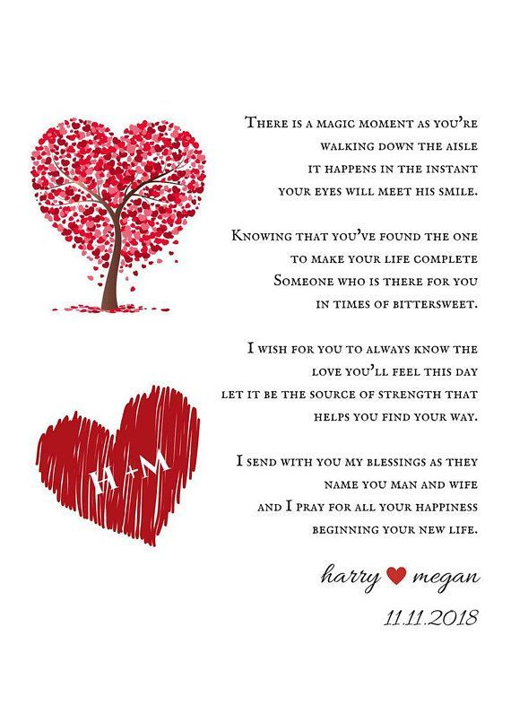 Gift From Parents Wedding Day Gift To New Couple Newly Weds Poem