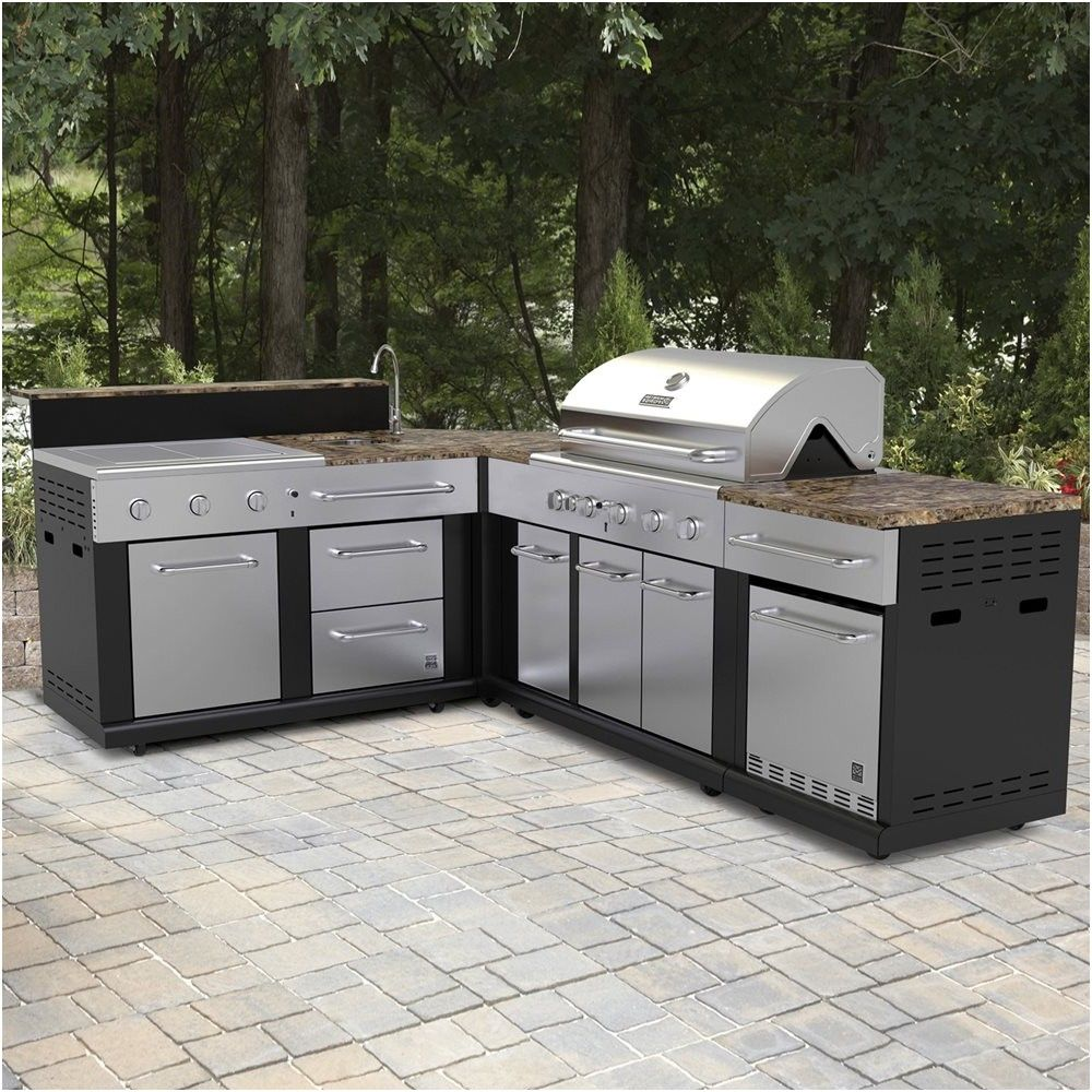 Master Forge Outdoor Kitchen Lowes: Master Forge Corner Modular Outdoor Kitchen Set Lowe S
