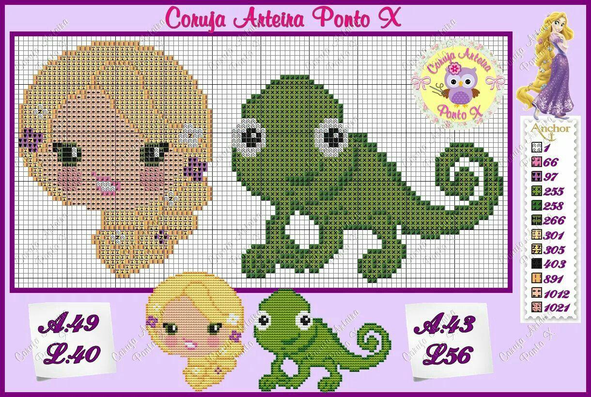 Rapunzel | Gráficos toalha de crianças | Pinterest